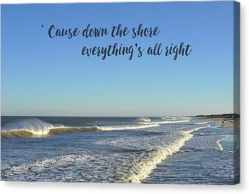 Salt Air Canvas Print - Down The Shore Seaside Heights Blue Quote by Terry DeLuco