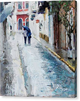 Down The Street Canvas Print