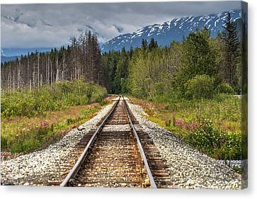 Down The Tracks Canvas Print