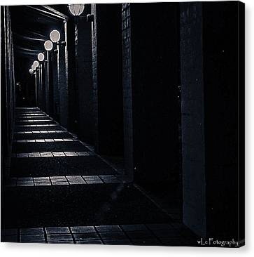 Down The Walkway Canvas Print