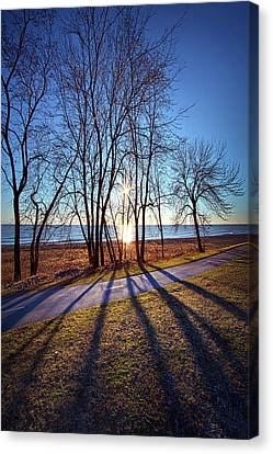 Canvas Print featuring the photograph Down This Way We Meander by Phil Koch