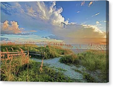 Down To The Beach 2 - Florida Beaches Canvas Print