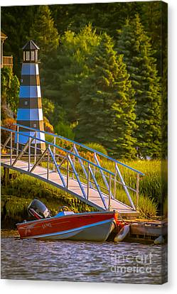 Down To The River Canvas Print by Claudia M Photography