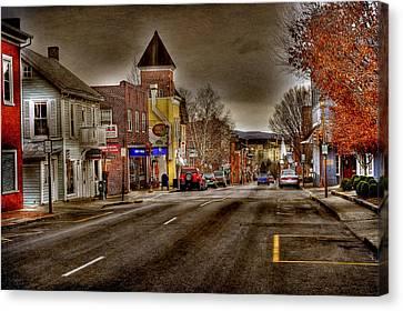 Down Town Lexington Va Canvas Print by Todd Hostetter