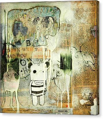 Down With The Big Bad Wolf Canvas Print by Konrad Geel