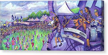 Canvas Print featuring the painting Down2funk At Arise by David Sockrider