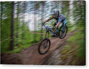 Downhill Race Canvas Print by Ari Salmela