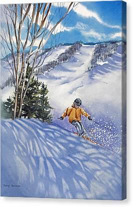 Downhill-rhythm Canvas Print by Nancy Newman