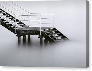 Stair Canvas Print - Downstairs by Inigo Barandiaran