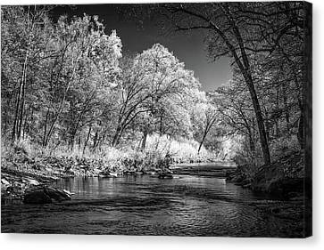 Canvas Print featuring the photograph Downstream At Natural Dam by James Barber