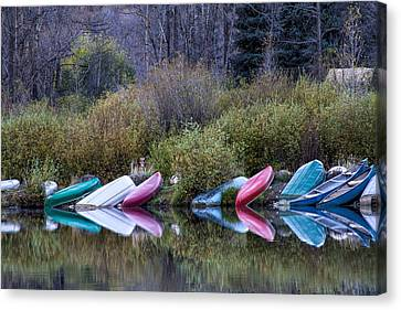 Downtime At Beaver Lake Canvas Print by Alana Thrower
