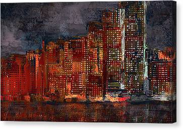 Downtown Canvas Print by Alex Galkin