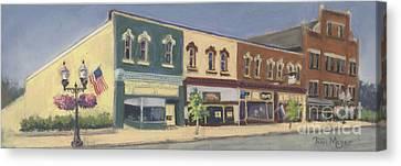 Downtown Ashland Ohio Canvas Print by Terri  Meyer