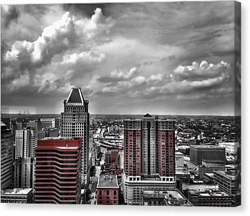 Downtown Baltimore City Canvas Print