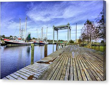 Downtown Bayou La Batre Canvas Print