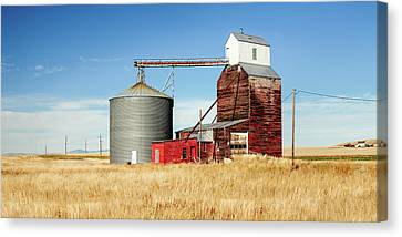 Downtown Benchland Canvas Print