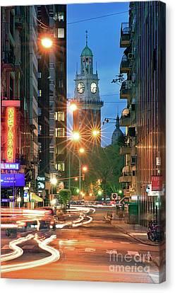 Canvas Print featuring the photograph Downtown by Bernardo Galmarini
