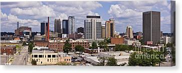 Downtown Birmingham Skyline Canvas Print by Jeremy Woodhouse