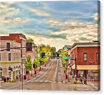 Downtown Blacksburg Canvas Print