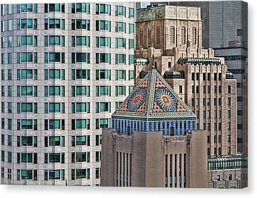 Canvas Print featuring the photograph Downtown Blend by Kim Wilson