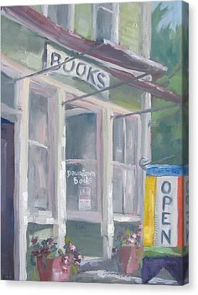 Downtown Books Four Canvas Print by Susan Richardson