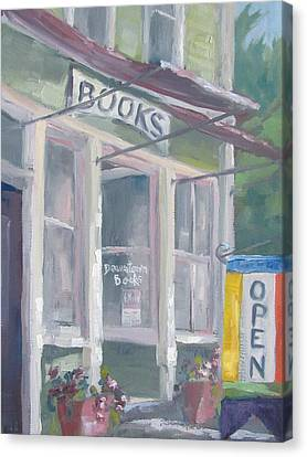 Downtown Books Four Canvas Print