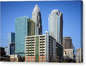 Downtown Charlotte North Carolina Buildings Canvas Print by Paul Velgos