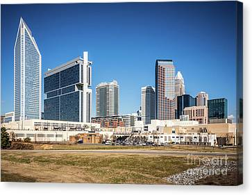 Charlotte Canvas Print - Downtown Charlotte Skyline Skyscrapers by Paul Velgos