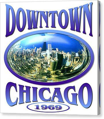 Downtown Chicago Design Canvas Print