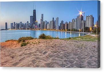 Downtown Chicago From North Beach Canvas Print by Twenty Two North Photography