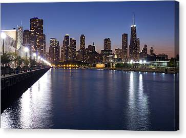 Downtown Chicago Skylinr From Navy Pier Canvas Print by Twenty Two North Photography