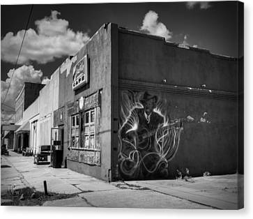 Guitar Canvas Print - Downtown Clarksdale 002 by Lance Vaughn