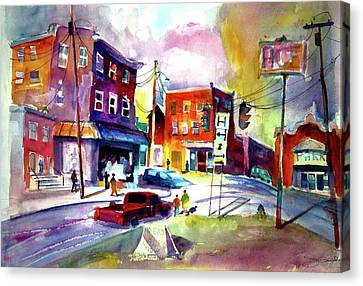 Downtown Cobleskill New York Canvas Print by Joseph Giuffrida