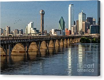Downtown Dallas Bridge Canvas Print