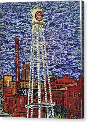 Downtown Durham Canvas Print by Micah Mullen