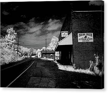 Downtown Ewing Virginia Canvas Print by Bob LaForce