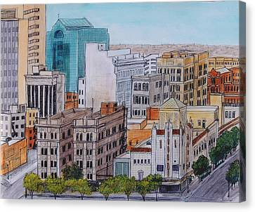 Downtown From Above Canvas Print