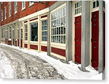 Downtown Gardiner Winter Canvas Print by Olivier Le Queinec