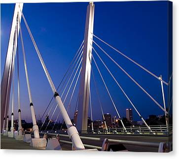 Downtown Gateway Canvas Print by Peter Skiba