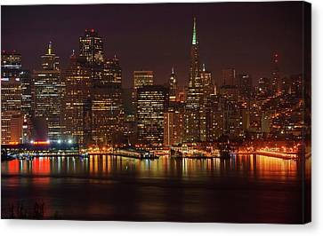 Downtown Gotham City Canvas Print