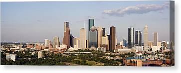 Downtown Houston Skyline Canvas Print by Jeremy Woodhouse