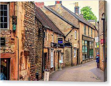 Canvas Print featuring the photograph Downtown In The Cotswolds by Wallaroo Images