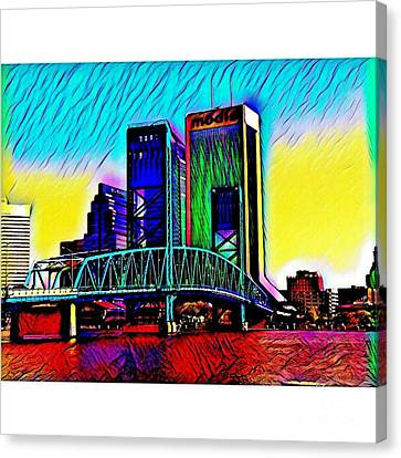 Downtown Jacksonville, Florida Canvas Print by Clint Day