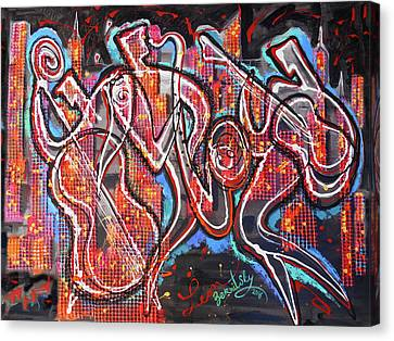 Downtown Jazz Blues Canvas Print