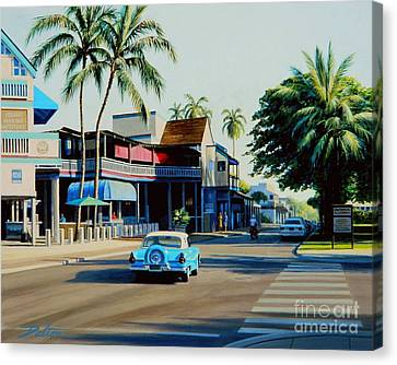Downtown Lahaina Maui Canvas Print