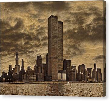 Downtown Manhattan Circa Nineteen Seventy Nine  Canvas Print