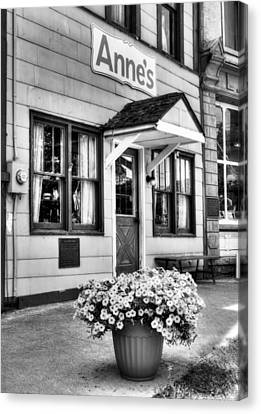 Downtown Metamora Indiana Bw Canvas Print by Tri State Art