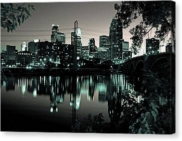 Downtown Minneapolis At Night II Canvas Print