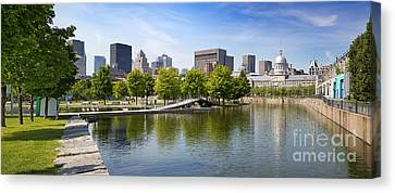 Downtown Montreal In Summer Canvas Print by Jane Rix