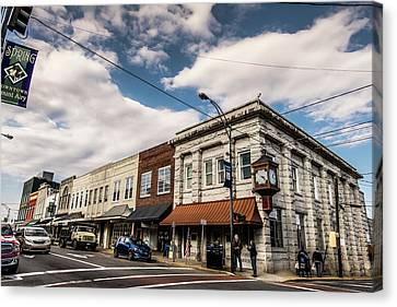 Downtown Mount Airy Canvas Print by Cynthia Wolfe